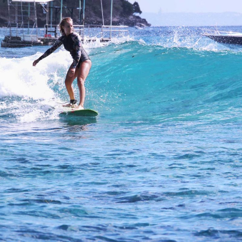 Turquoise waters surfing Bali