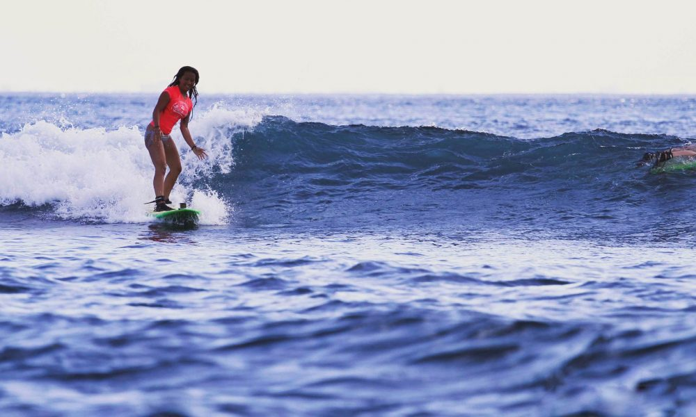 Beginner waves Bali