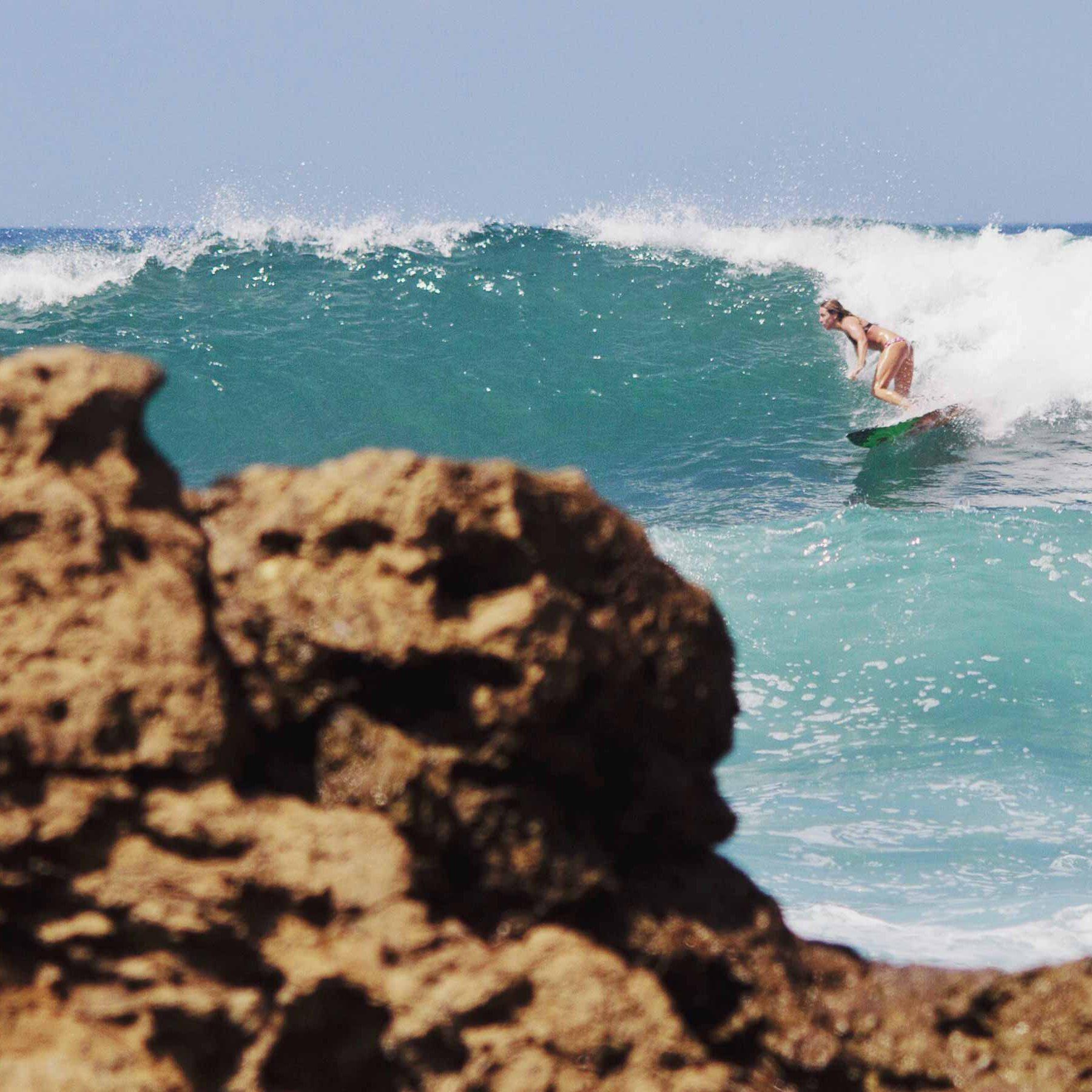Marie-Christine Amyot Surfing Ecuador