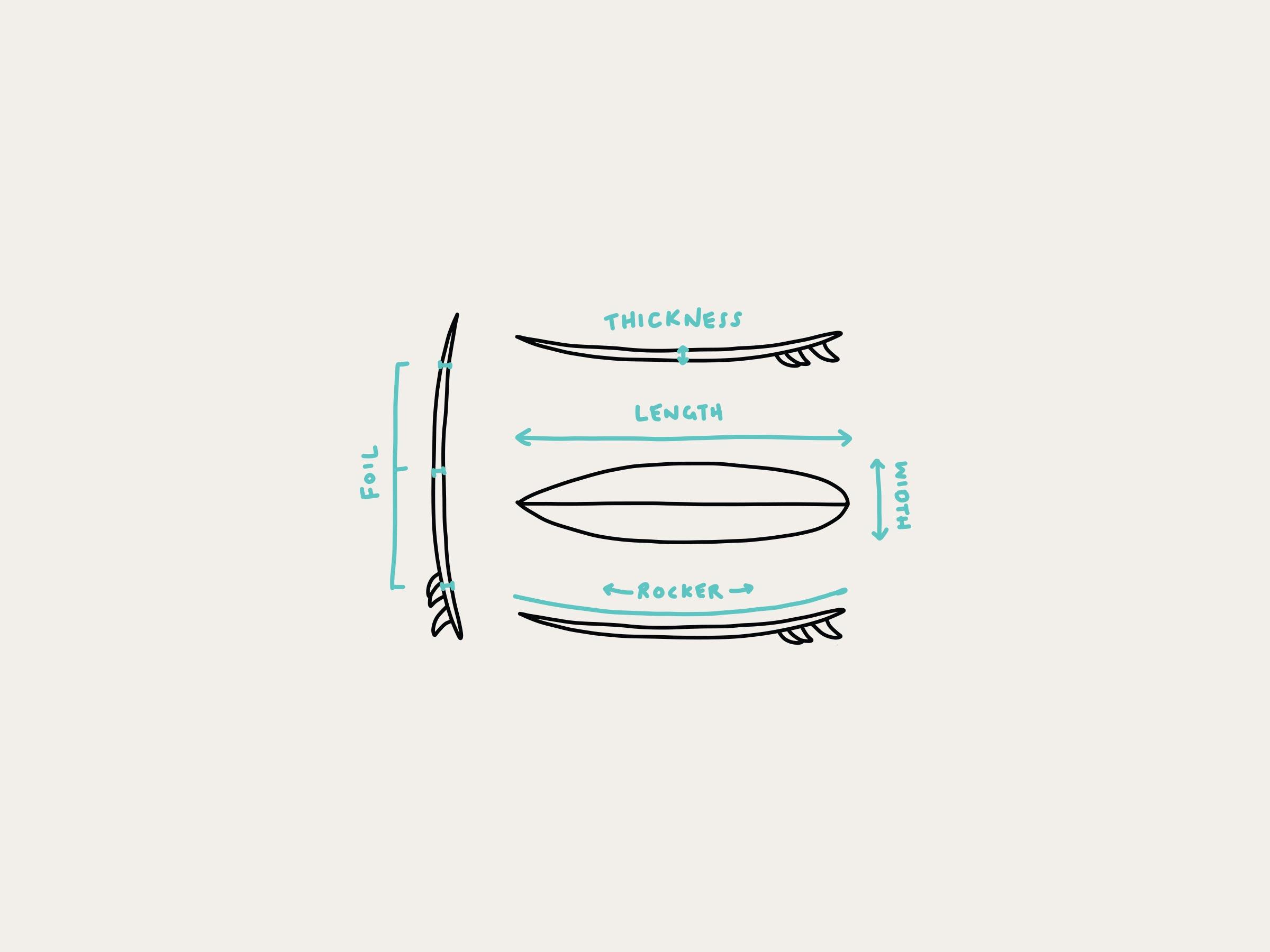 dimensions de surfboard  longueur  largeur   u00c9paisseur et