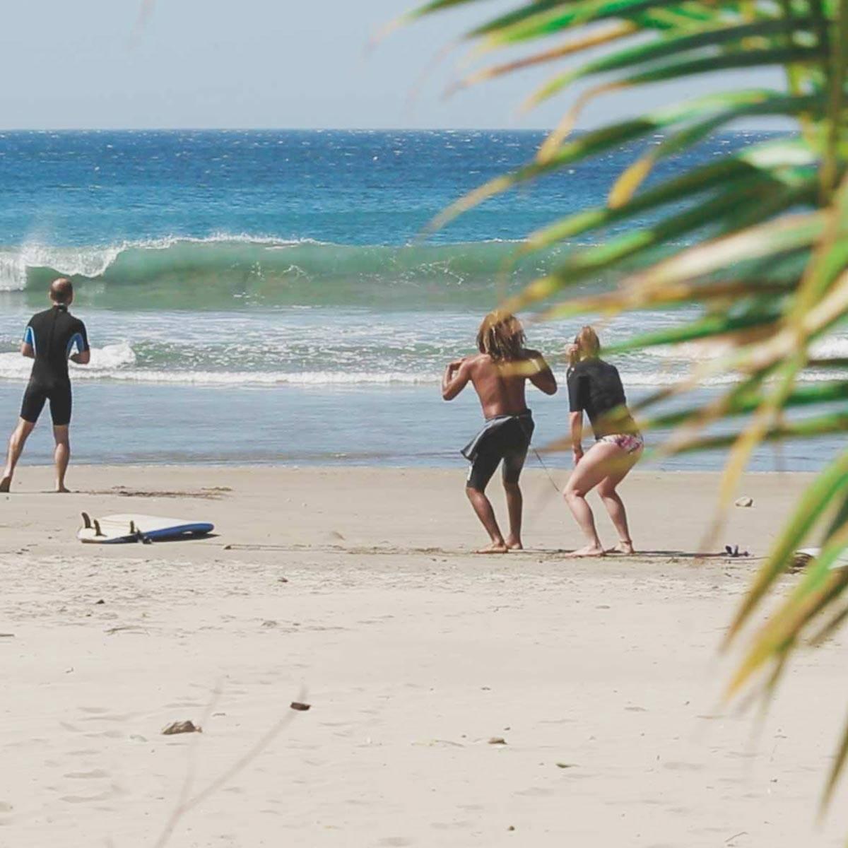 Surf lessons Nicaragua