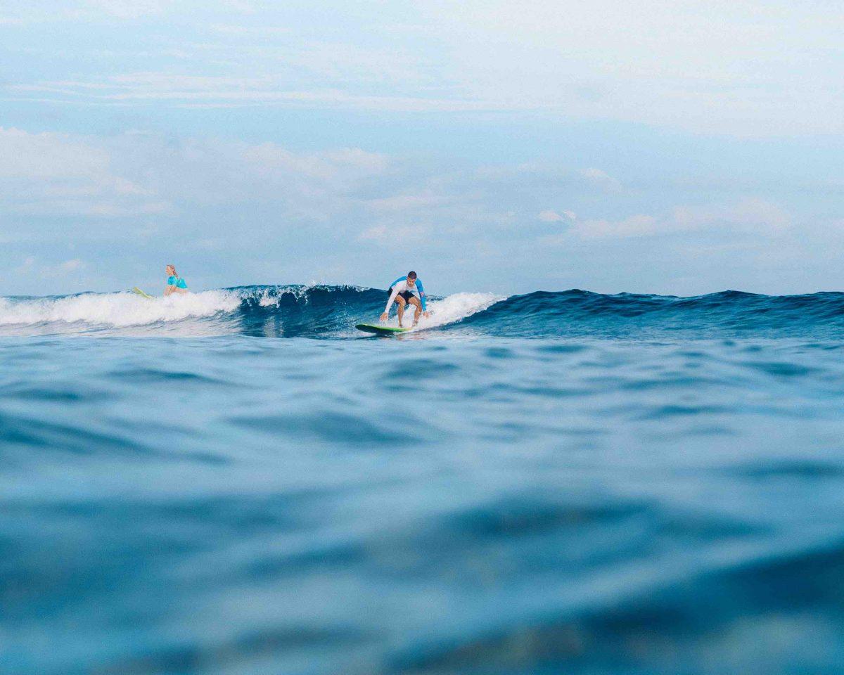 Learn to surf Bali Lembongan