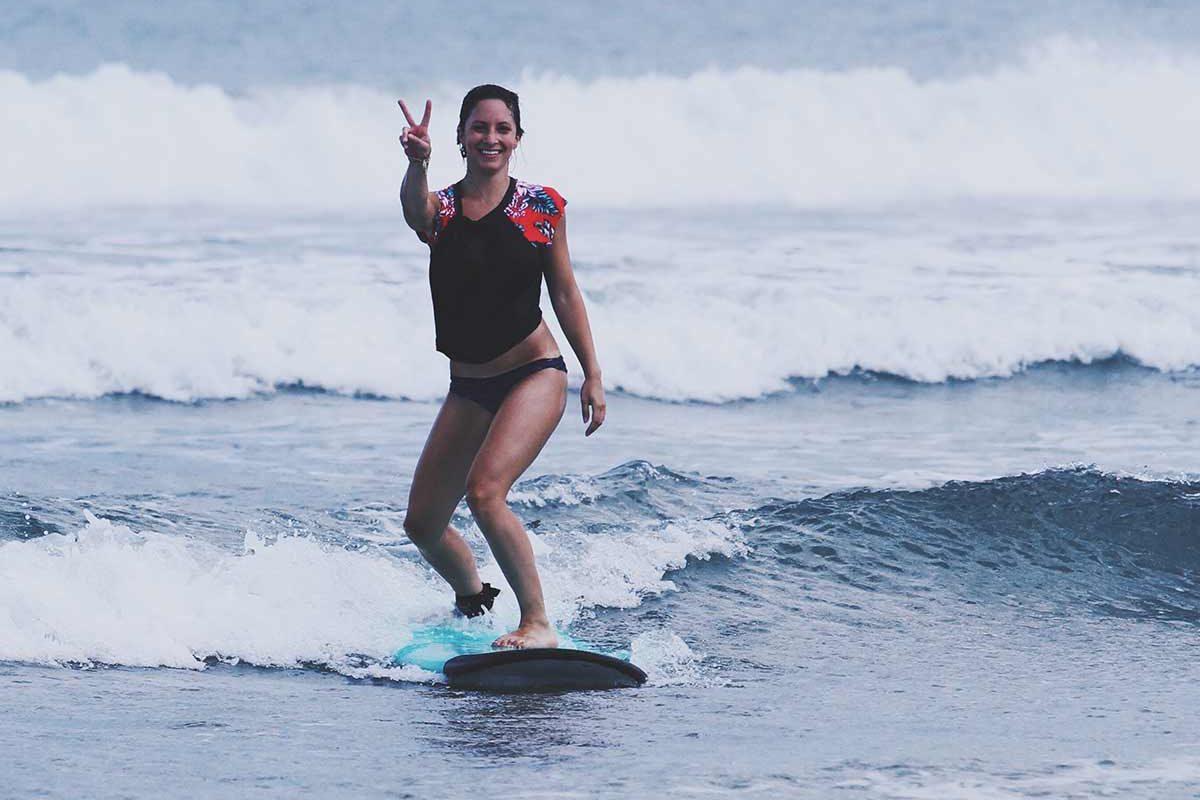 Beginner surfer Canggu