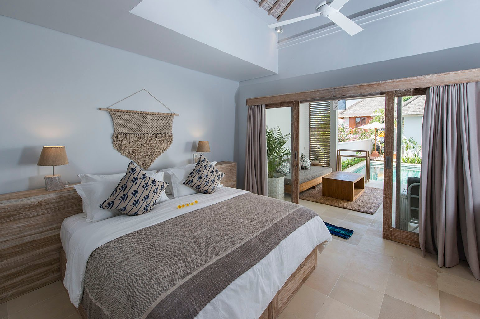 Bed in the Best Surf Camp of Bali - Queen Size