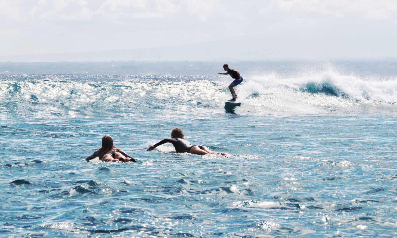Intermediate level surfer Bali