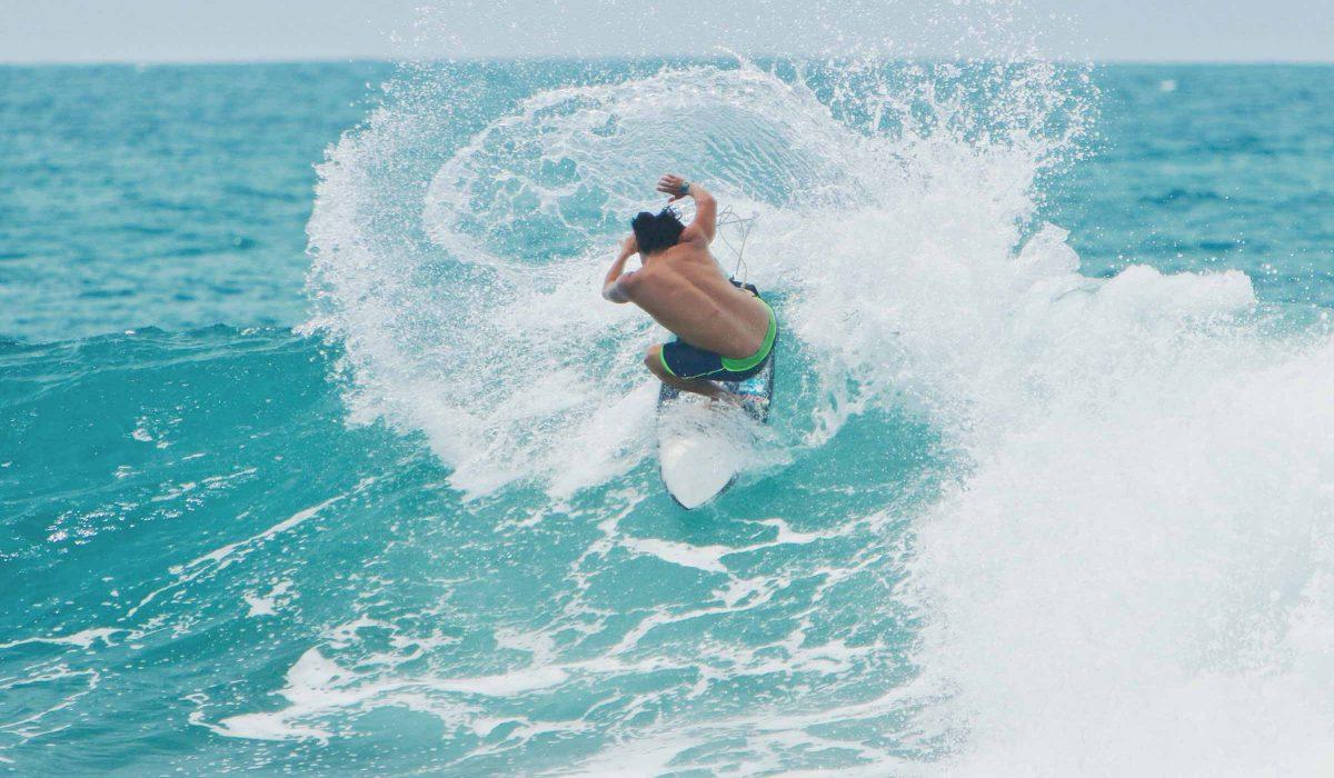 Israel Barona surfing Ecuador