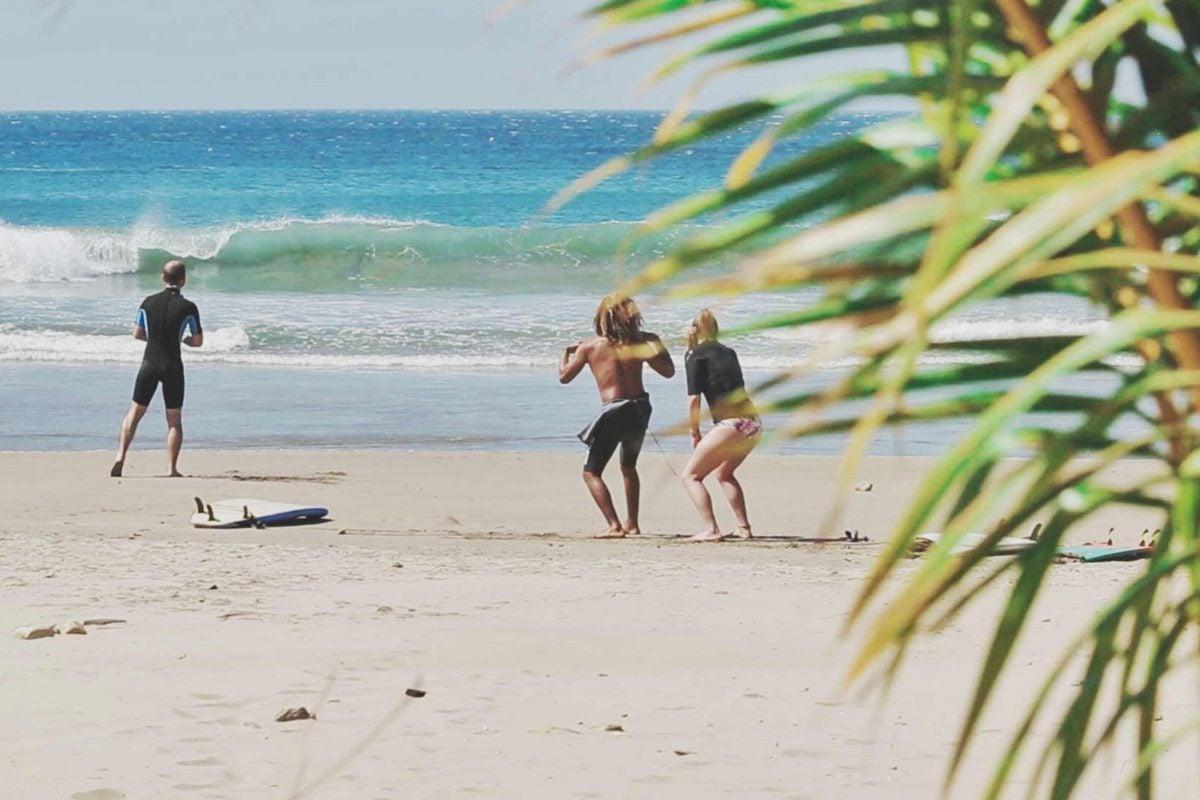 Surf courses Maderas beach