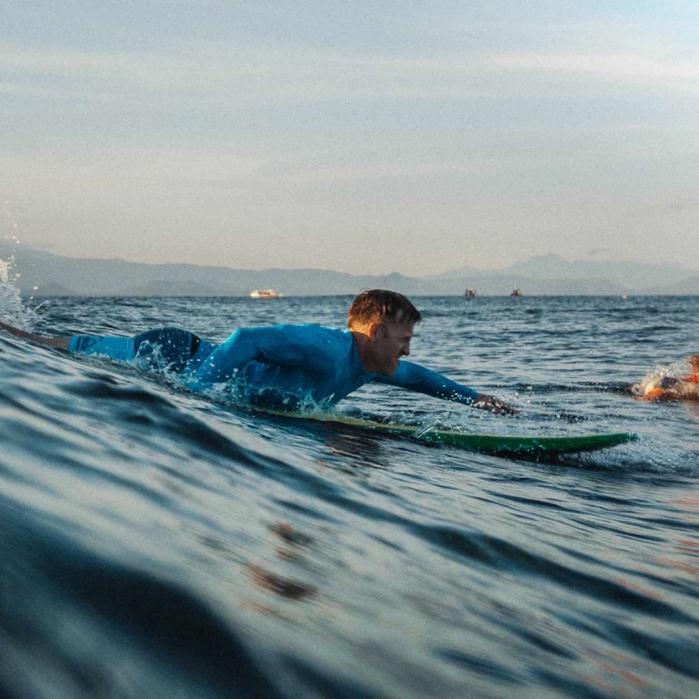 Beginner Surfer Nusa Lembongan Spot