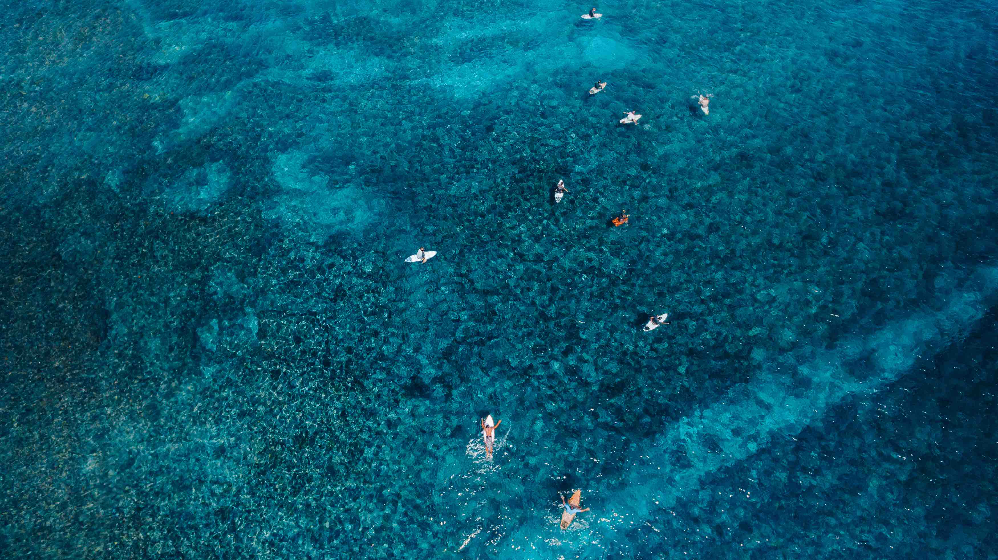 Drone Surf Lembongan Crystal Clear Water