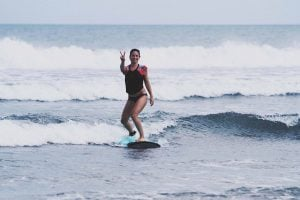 Kuta Beach Bali Beginner Surfer