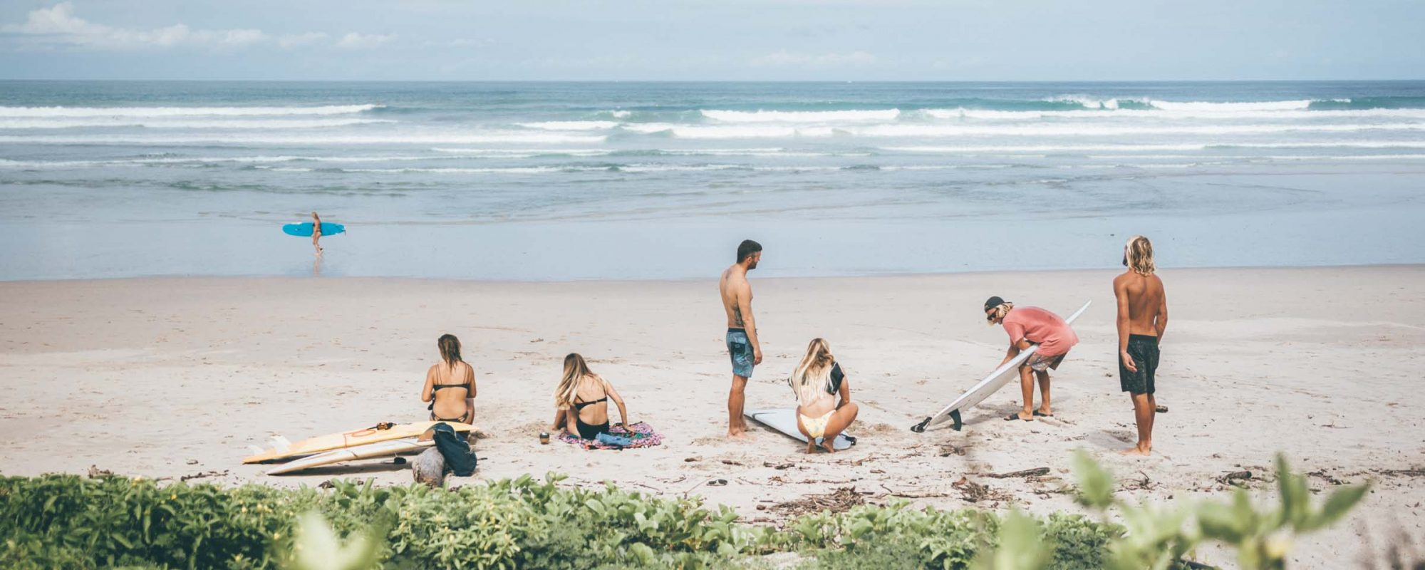 Group Beach Surf Nosara Surf Camp