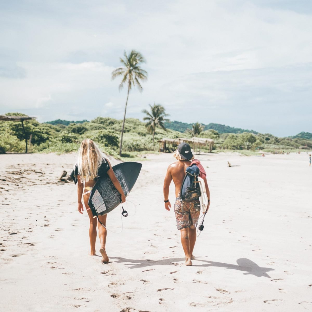 Walking the Surf Camp Costa Rica