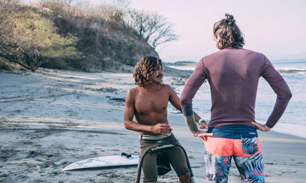 Surf Coaching with private student