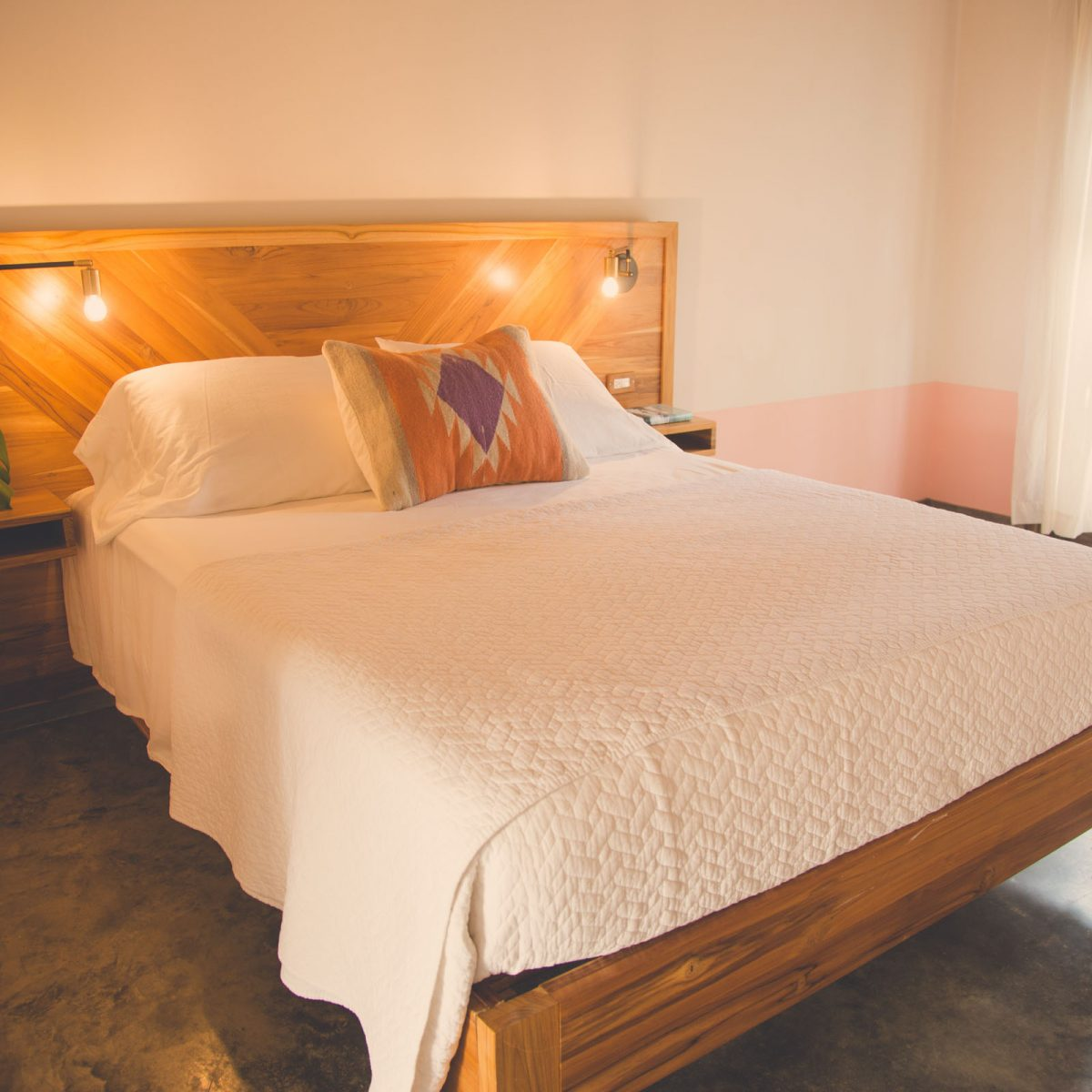 Costa Rica Accommodation Surf Coaching Queen Bed