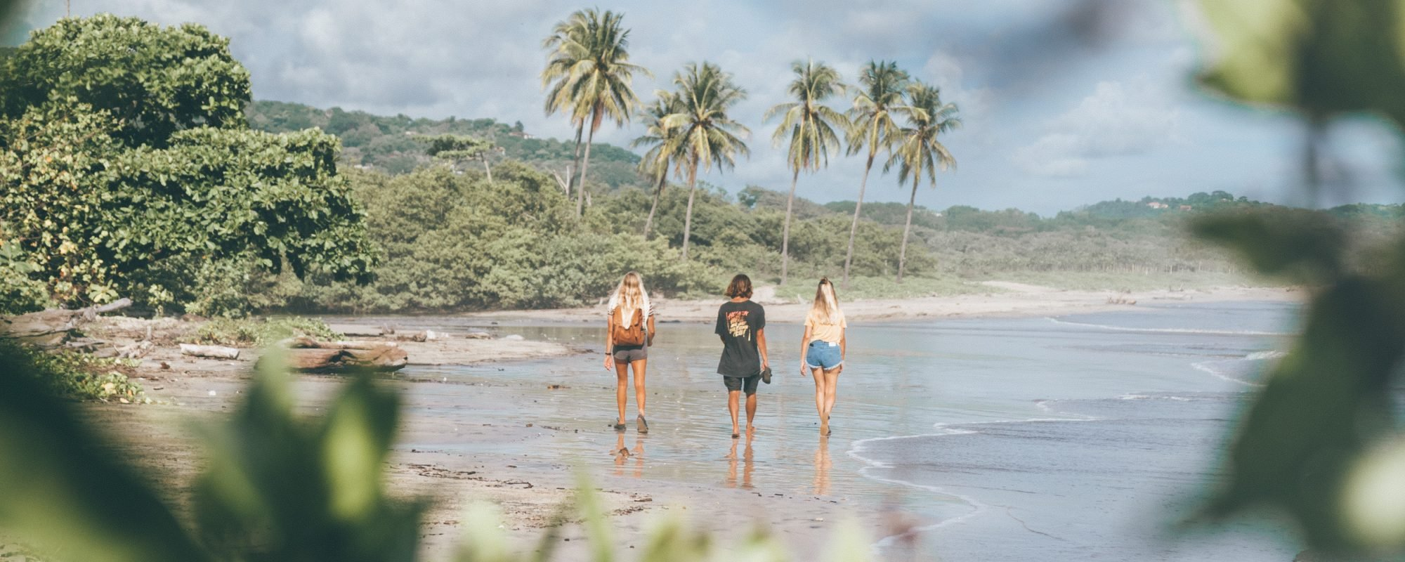 Walk On Guiones Beach Costa Rica Surf Camp