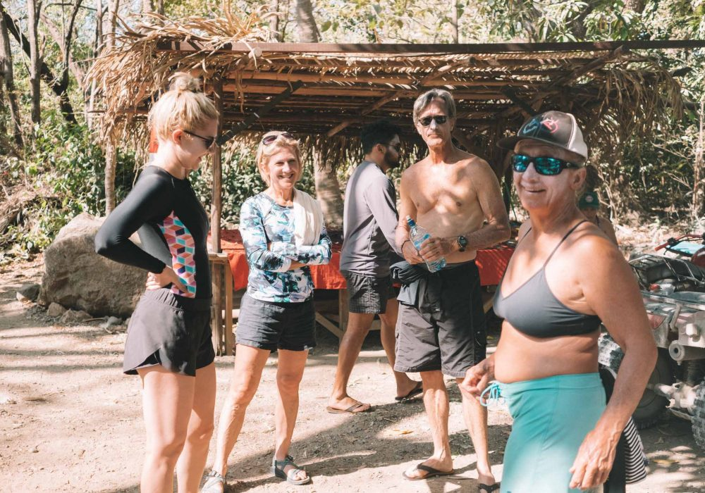 The people barefoot surf travel