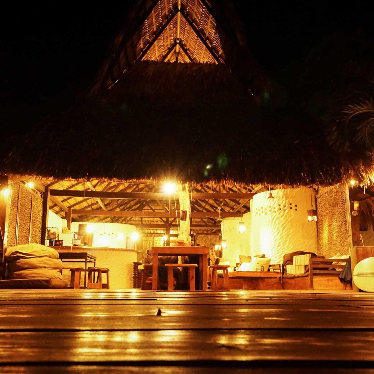 Yoga deck surf coaching accommodation maderas