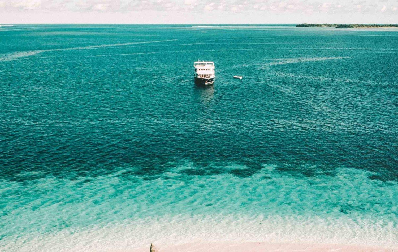 Maldives surf boat